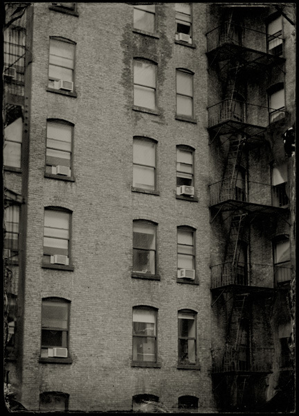 "Building on 29th street, NYC, 2010, 5x7"" Ambrotype"