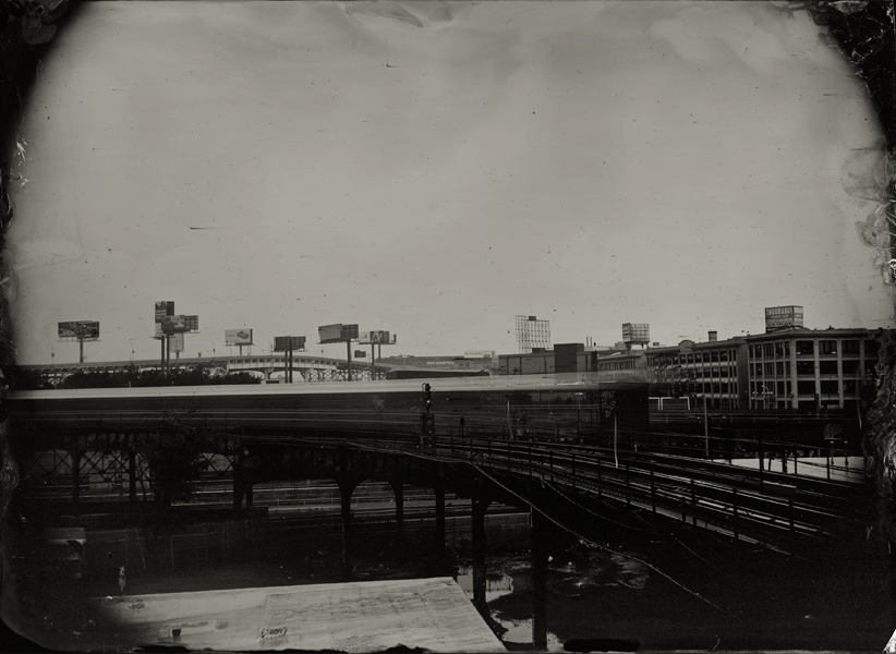"The 7 Train, NYC, 2009, 7x10"" tintype"