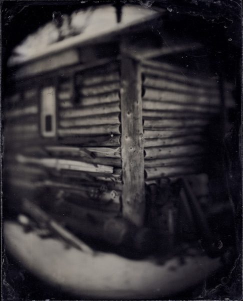 "The Cabin, Maine, 2005, 5x4"" tintype"