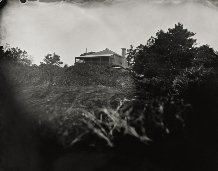 """Winslow Homer's Studio, Viewed from the Sea Path."" 8x10"" tintype. 2012."