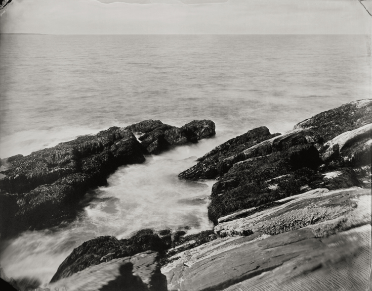 """Winslow Homer's Ocean View: Wave, Rocks, and Barnacles."" 8x10"" tintype. 2012."