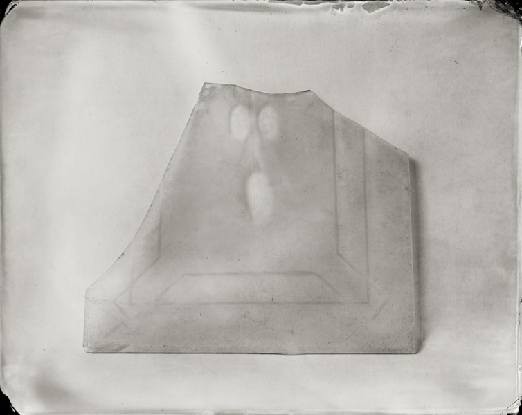 """Window Pane."" From Objects of Uncertain Provenance: Found in Winslow Homer's Studio. 8x10"" tintype. 2012."