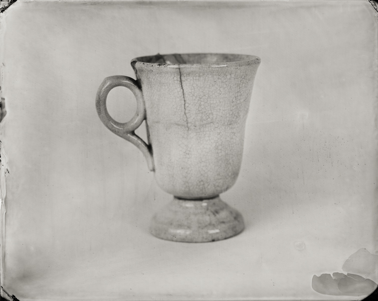 """Large Tea Cup."" From Objects of Uncertain Provenance: Found in Winslow Homer's Studio. 8x10"" tintype. 2012."