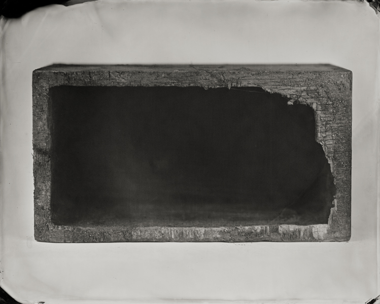 """Wooden Box."" From Objects of Uncertain Provenance: Found in Winslow Homer's Studio. 8x10"" tintype. 2012."