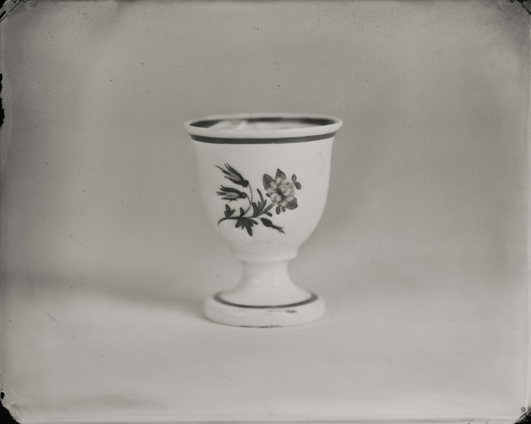"""Egg Cup."" From Objects of Uncertain Provenance: Found in Winslow Homer's Studio. 8x10"" tintype. 2012."
