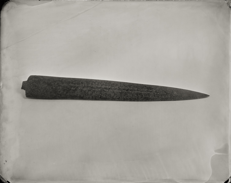 """Dagger."" From Objects of Uncertain Provenance: Found in Winslow Homer's Studio. 8x10"" tintype. 2012."