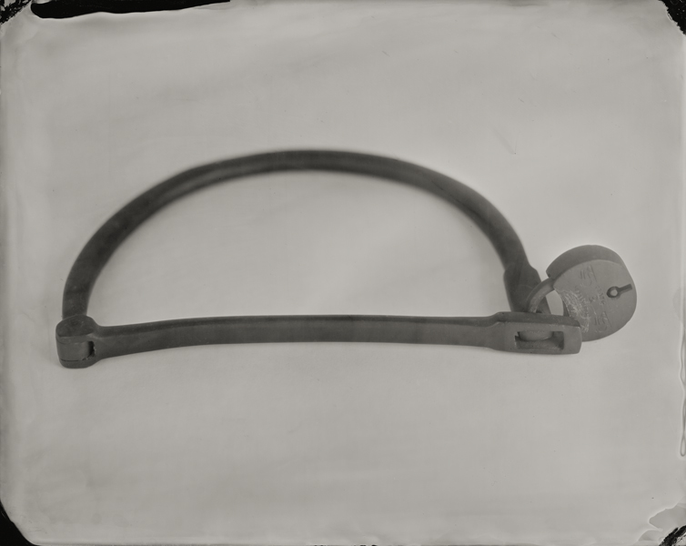 """Lock."" From Objects of Uncertain Provenance: Found in Winslow Homer's Studio. 8x10"" tintype. 2012."