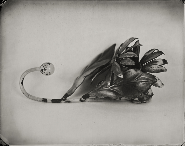 """Coat Hook."" From Objects of Uncertain Provenance: Found in Winslow Homer's Studio. 8x10"" tintype. 2012."