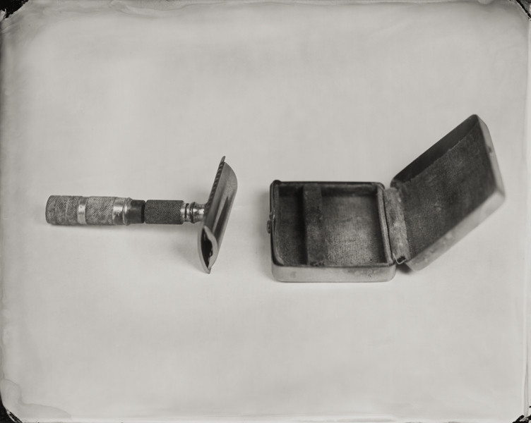 """Razor."" From Objects of Uncertain Provenance: Found in Winslow Homer's Studio. 8x10"" tintype. 2012."