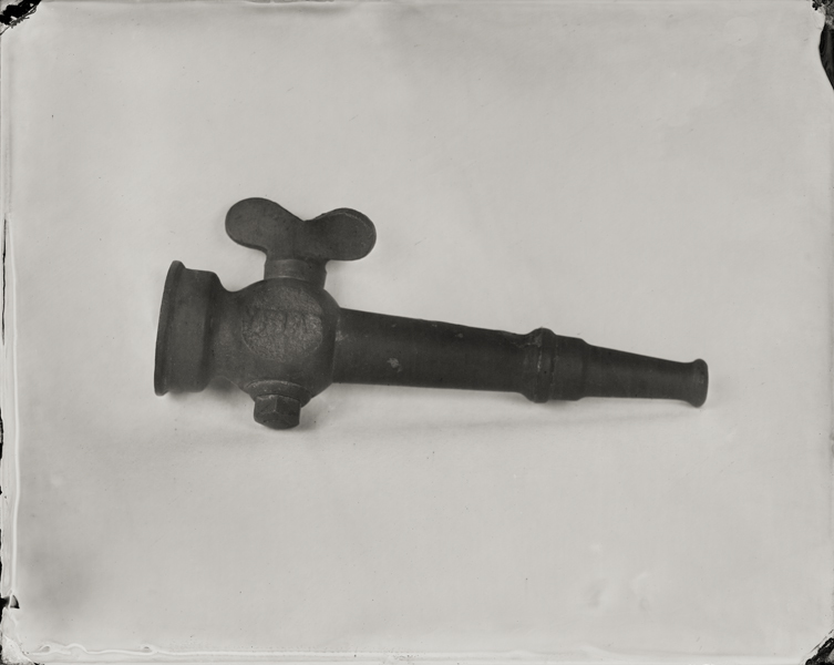 """Nozzle."" From Objects of Uncertain Provenance: Found in Winslow Homer's Studio. 8x10"" tintype. 2012."