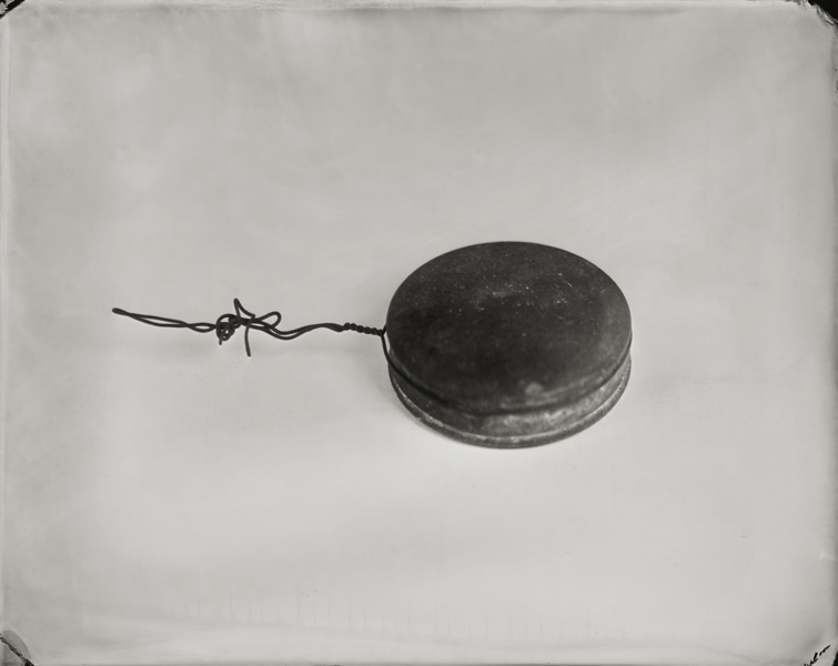 """Canister."" From Objects of Uncertain Provenance: Found in Winslow Homer's Studio. 8x10"" tintype. 2012."